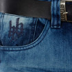 Hoodboyz Homens Loose Fit Jeans Azul