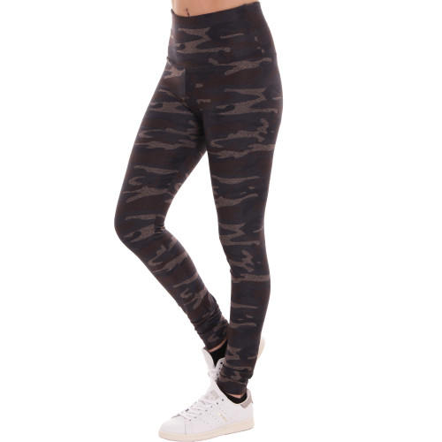 D & A Lifestyle Ladies Printed Leggings preto camouflagem
